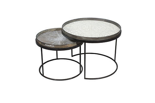 Round Tray Table Set - Low