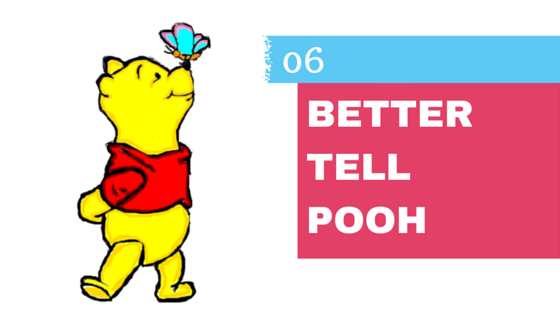 Somebody Better tell Pooh