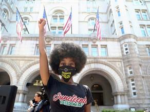 PHOTOS: Joyful Juneteenth marchers in D.C. Confound Predictions of Violence Black Lives Matter