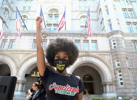 PHOTOS: Joyful Juneteenth marchers in D.C. Confound Predictions of Violence Black Lives Matter