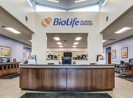 BioLife Plasma Services Announces Opening of First Plasma Collection Center in Louisiana