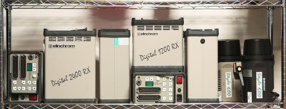 Elinchrom packs | 4 x 2400 RX | 2 x 1200 rx | 2 x style 600 mono