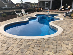 Pool coping and Deck