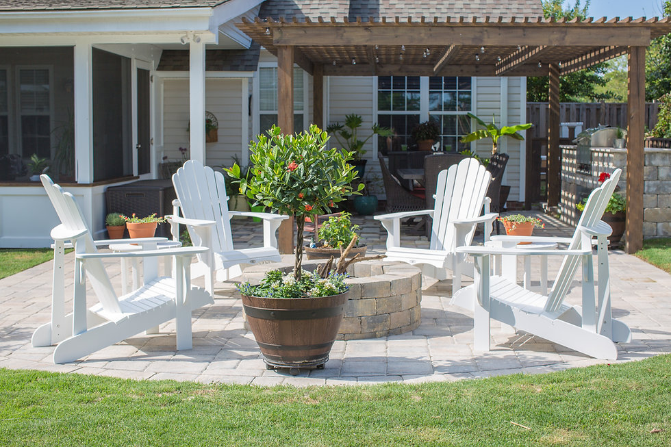 Paver patio, firepit, grill station