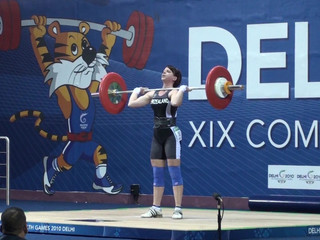 Clean And Jerking 83kg At The Commonwealth Games