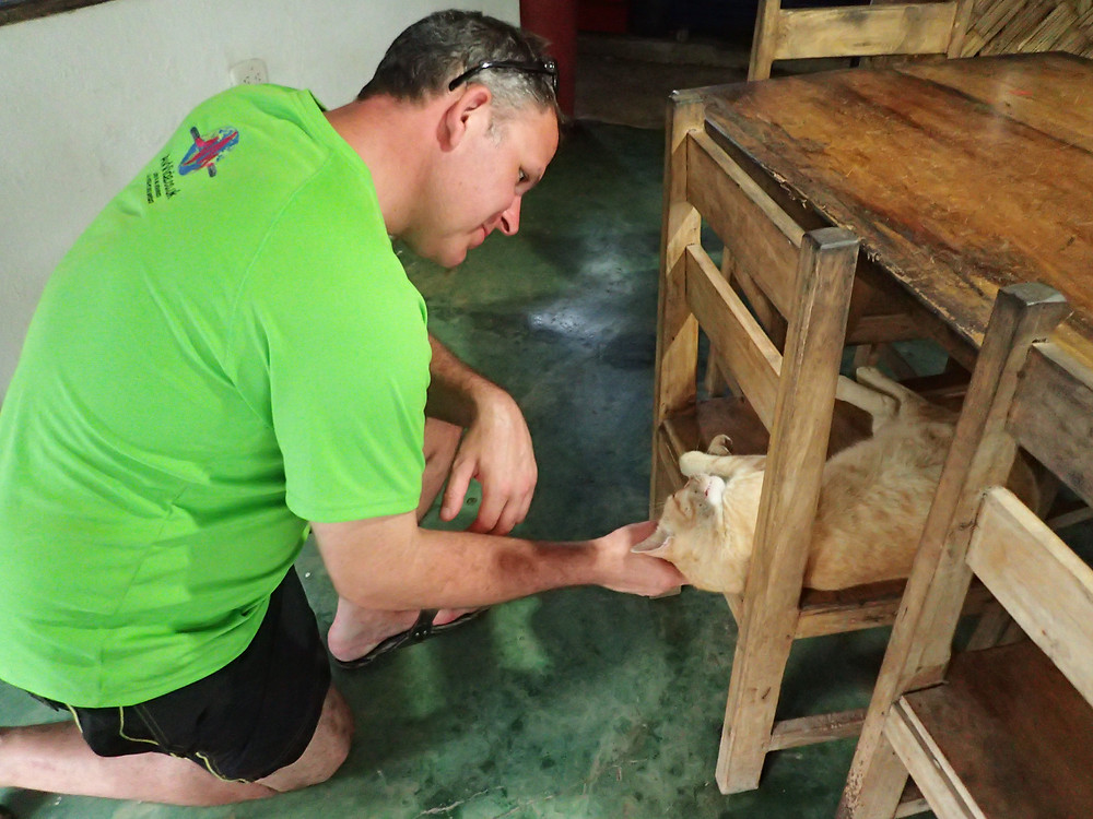 Kelvin with beautiful hostal cat