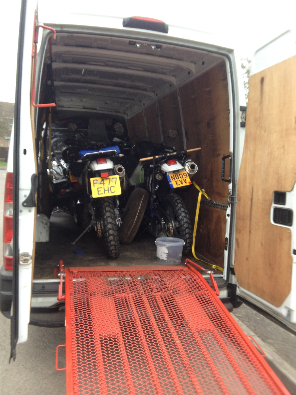 Bikes all loaded and secure