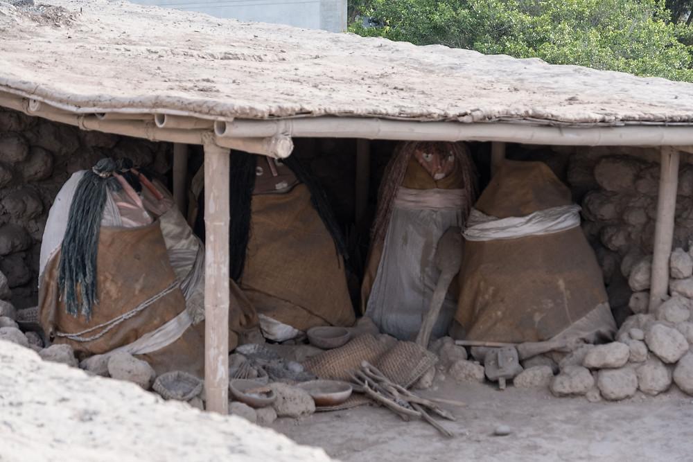 Funerary bales at Huaca Huallamarca, Lima