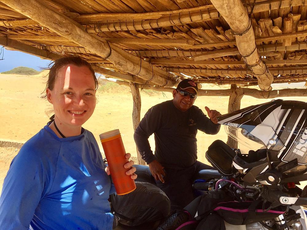 Me and biker-man