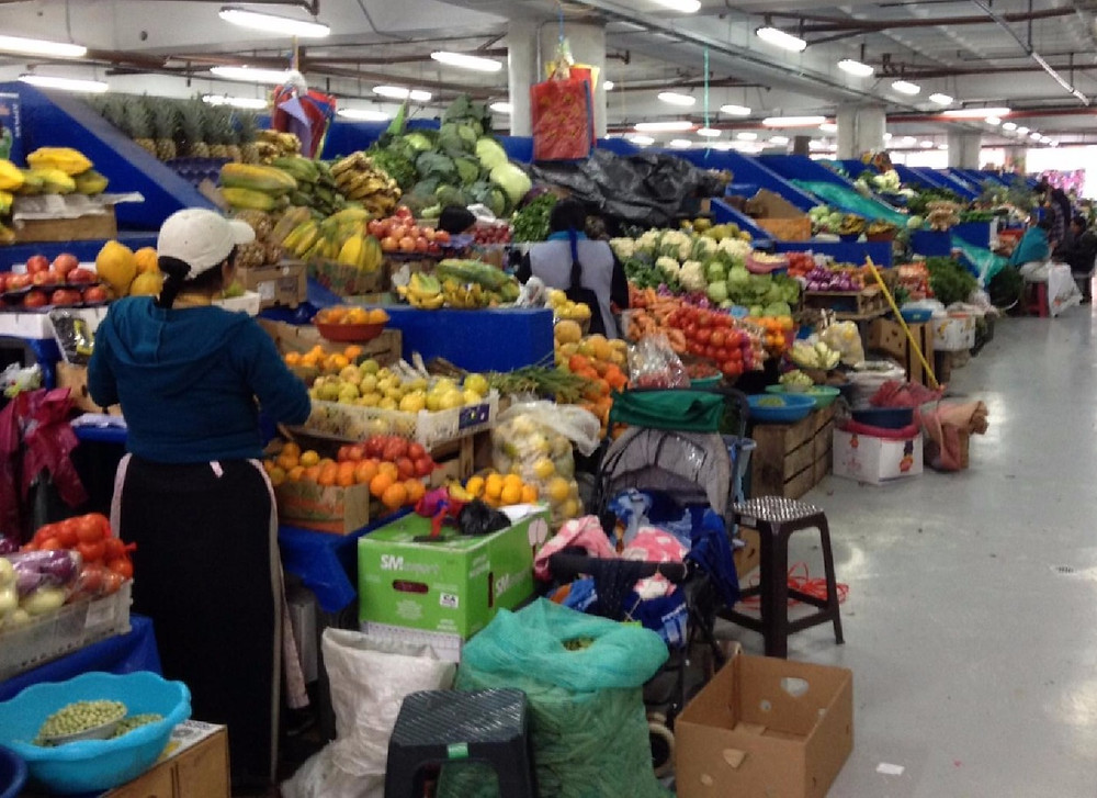 Otavalo indoor market - spoilt for fruit and veg choices.