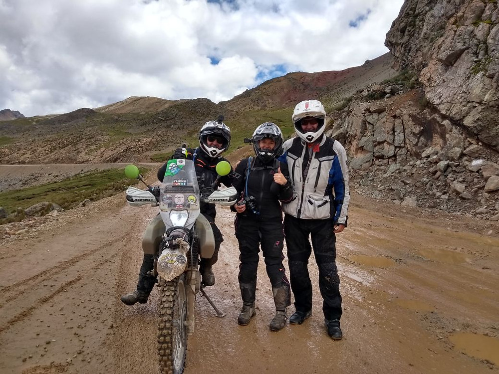 Kelvin, Me and Payo on route from Huaral to Bosque de Piedras