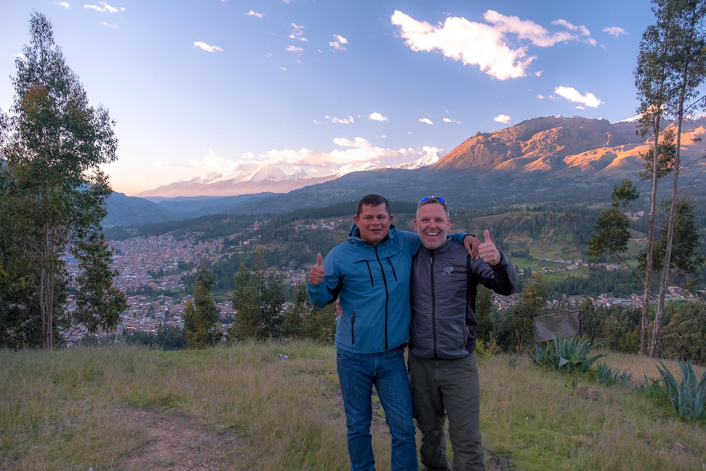 Jael and Kelvin at one of Huaraz's mirador
