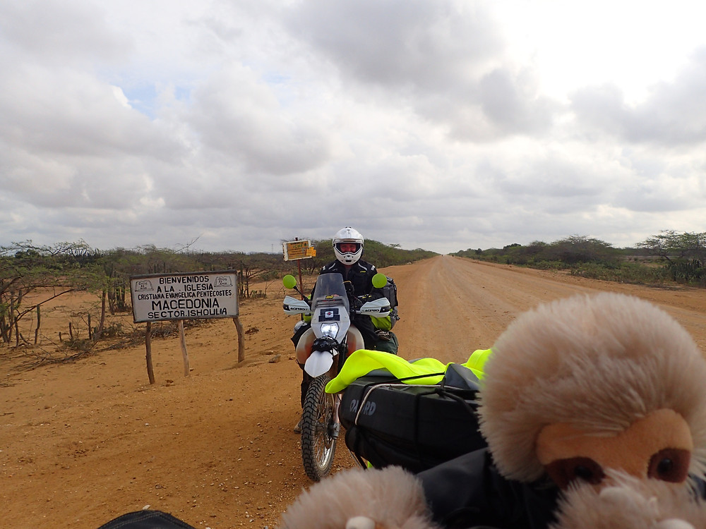 Cyril and Kelvin on the road from Cabo de la Vela