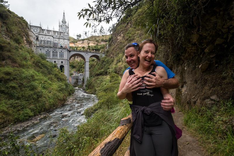 Misbehaving at Las Lajas!