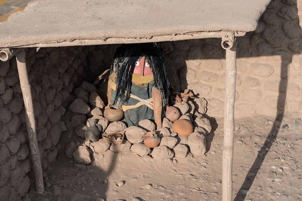 Funerary bale at Huaca Huallamarca, Lima