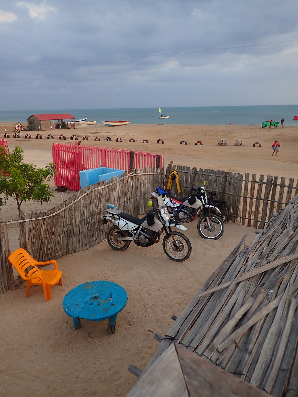 Bikes safe, beautiful surroundings, nice one!