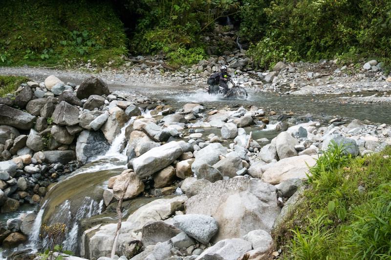 Water crossing on Trampolin Del Diablo. Photo by Michnus Olivier.