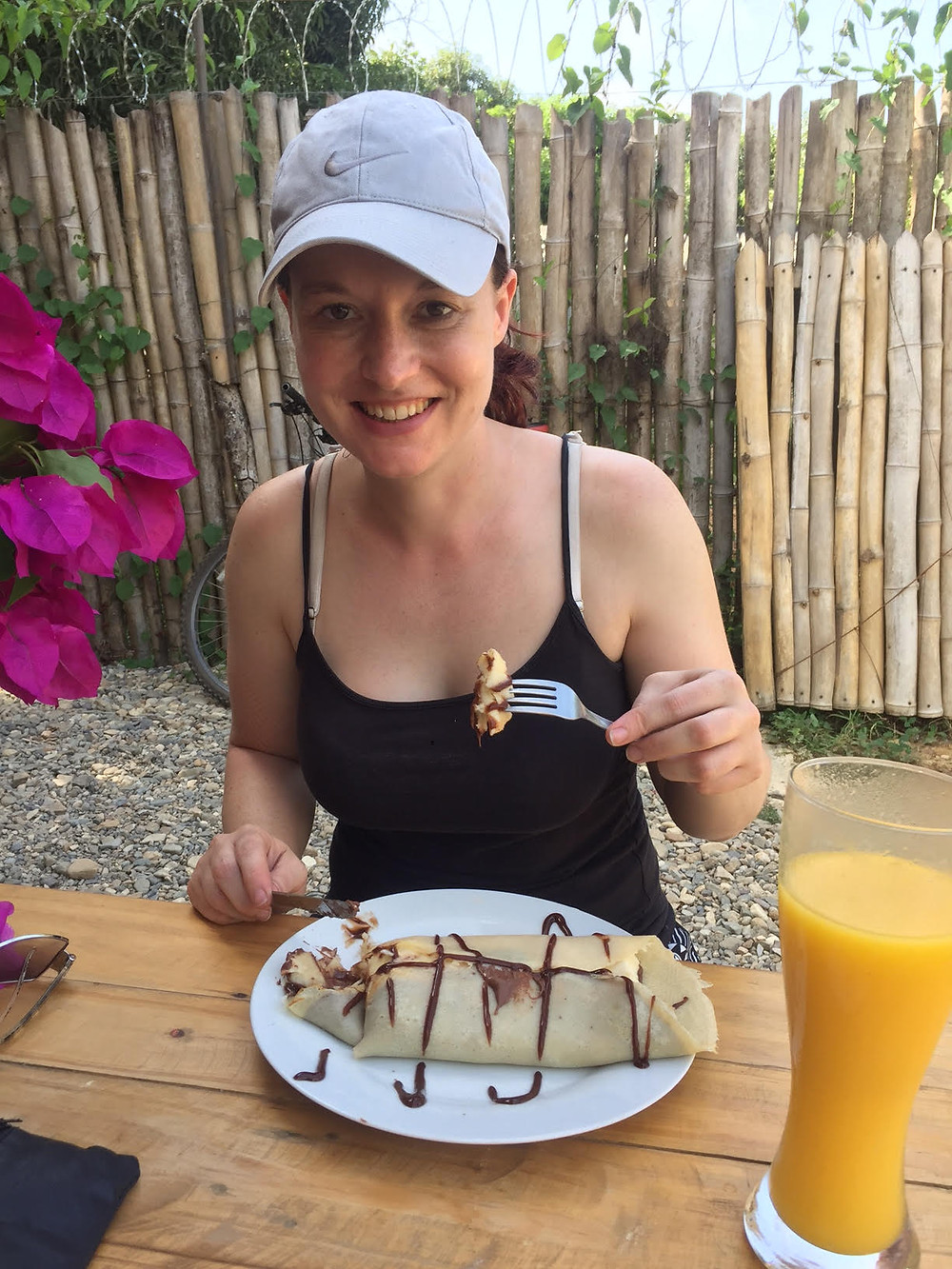 Mahoosive Crepe with banana and nutella