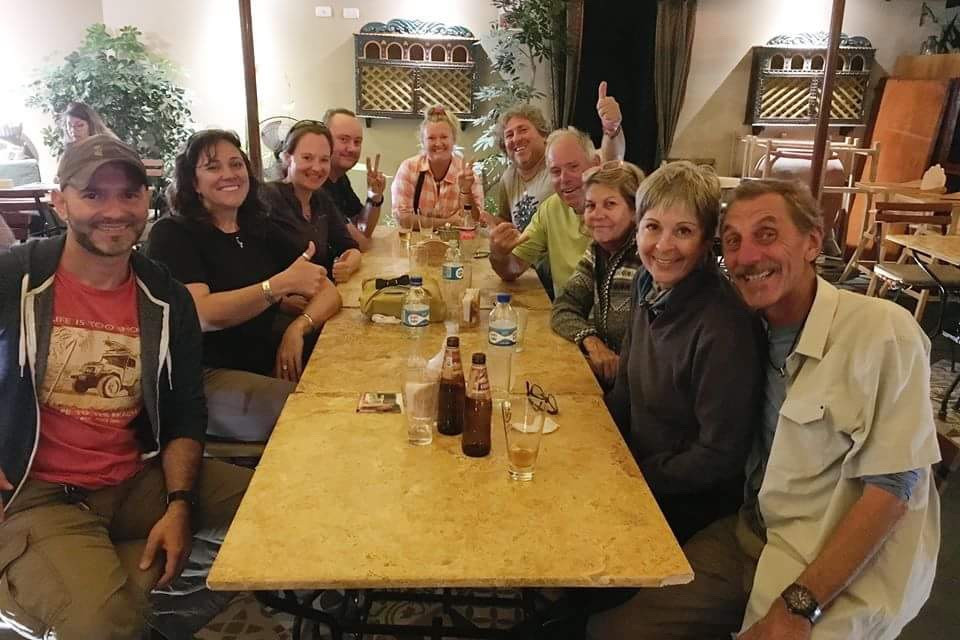 Philipe, Elsebie, Me, Paul, Neake, Michnus, Roy, Roy's wife, Caren and Louis at Mantra Garden Indian.