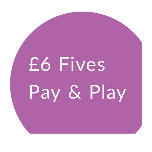 Fives Pay & Play Adult - Non-member £6 session