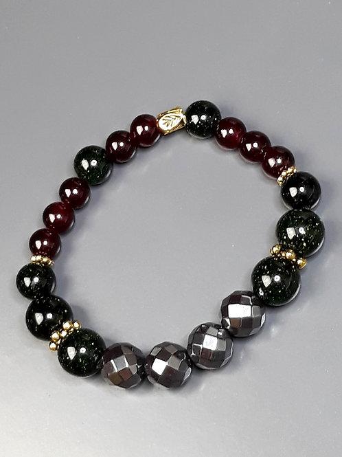 nile emerald & hematite bracelet