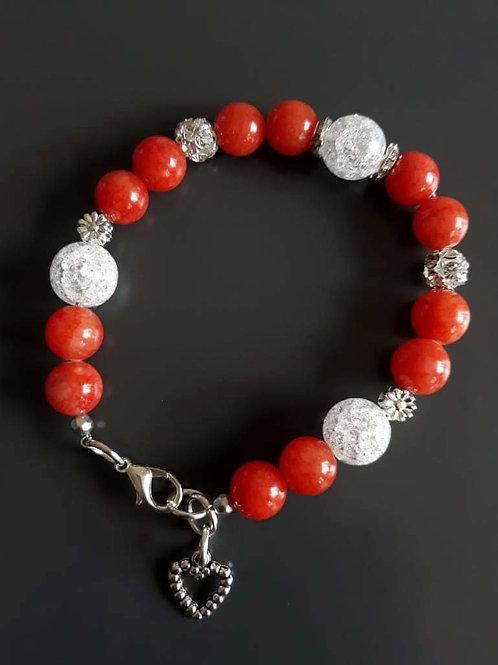 jade and mountain crystal bracelet