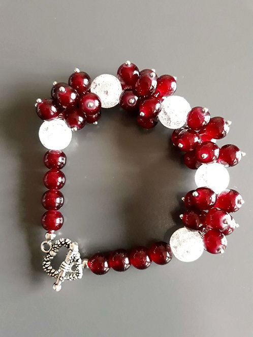 multi bead, mountain crystal bracelet