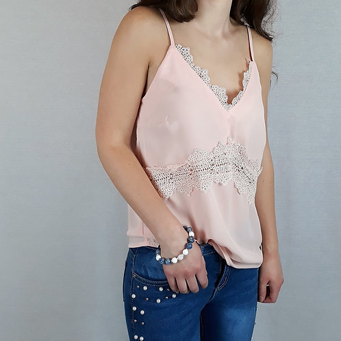 baby pink cami top