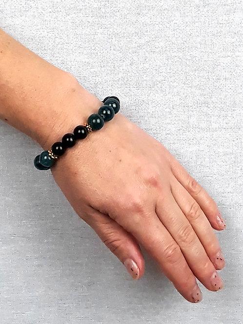 onyx & marble bracelet