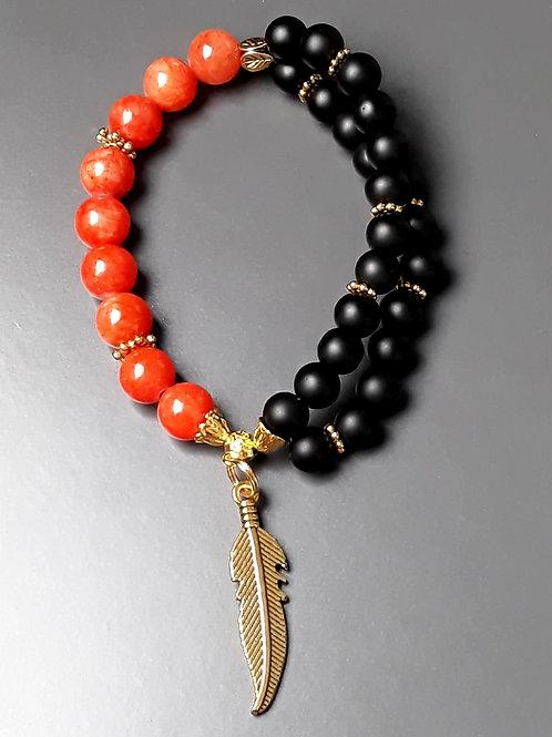 red jade & shungite bracelet