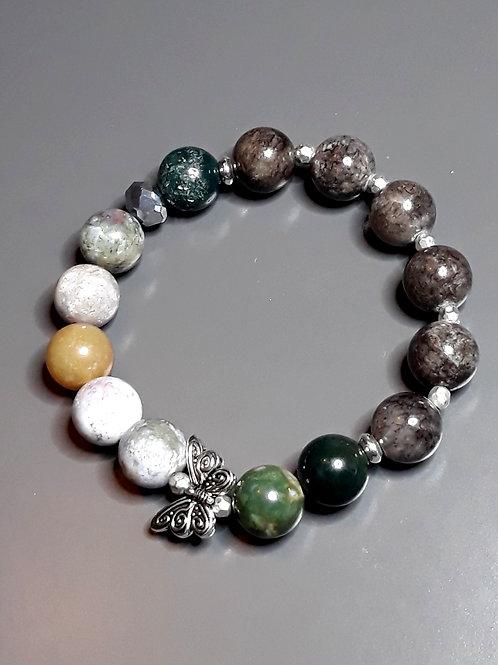 agate & marble, butterfly bracelet