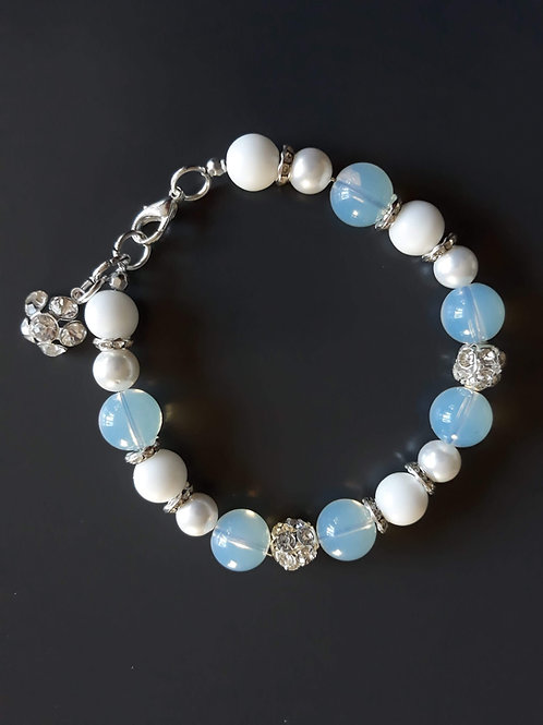 opal/moonstone and jade bracelet