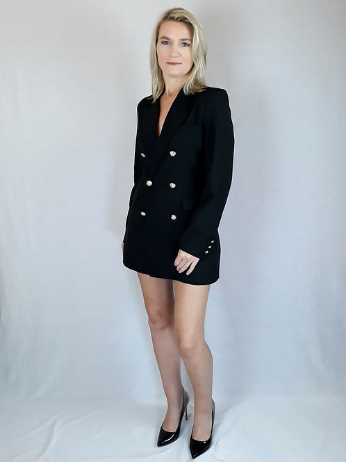 black longline suit style jacket