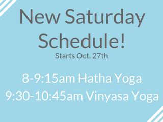 New Saturday Schedule