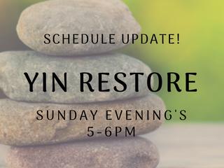 New Sunday Evening Class: Yin Restore