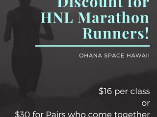 Discount for Honolulu Marathon Runners!