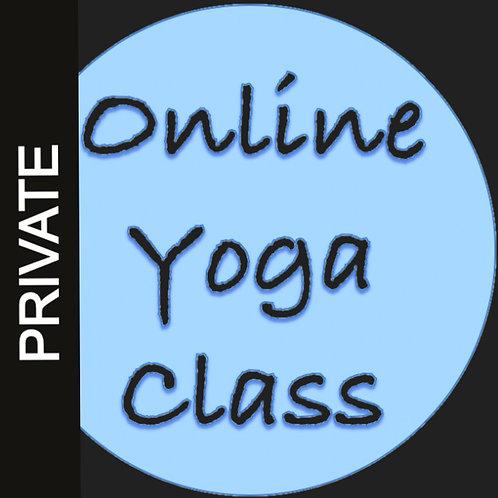 $60- Online Private 60min Yoga Class
