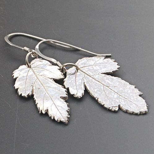 Hawthorne Leaf Earrings