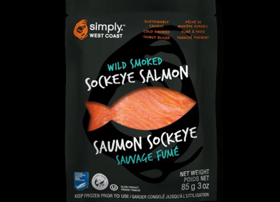SAUMON SOCKEYE SAUVAGE FUMÉ 85GR