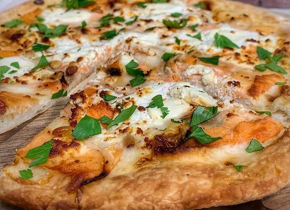 PIZZA SAUMON ET CHÈVRE 450GR