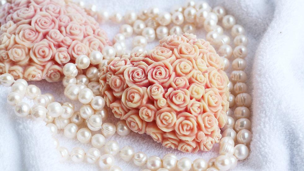 Rose Heart Handmade Soap