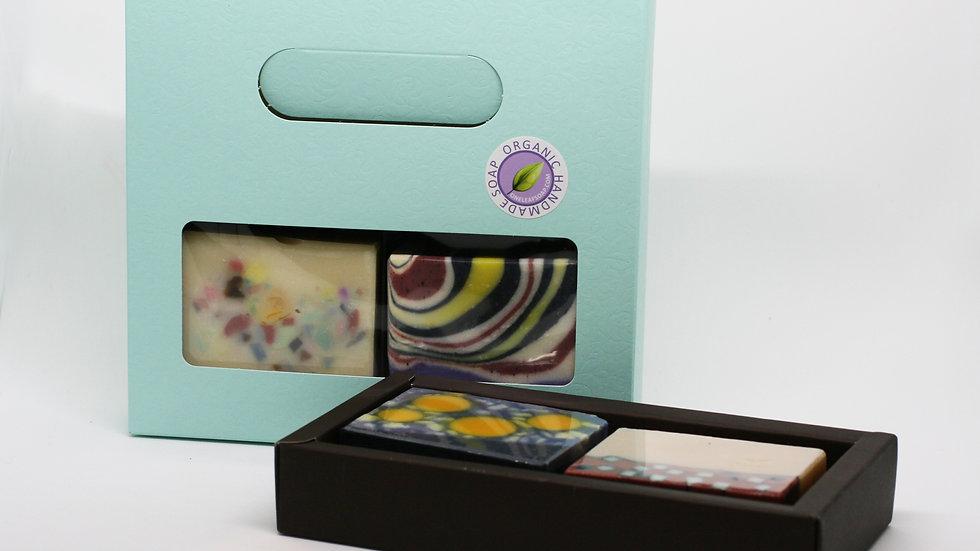 Blue Artisan Soap Gift Set – 2 Soaps