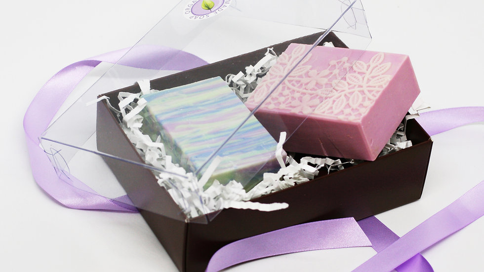 Clear Cover Soap Gift Box – 2 Soaps