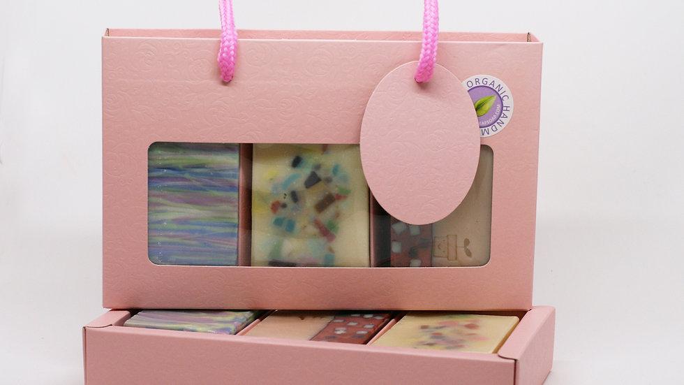 Baby Pink Shopper Soap Box – 3 Soaps