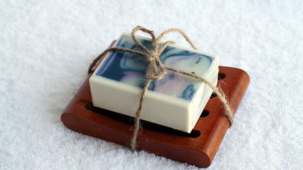 Wooden Soap Dish Gift Set – 1 Soap