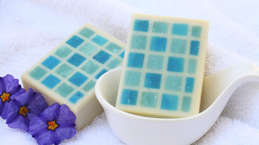 Blue Checker Soap