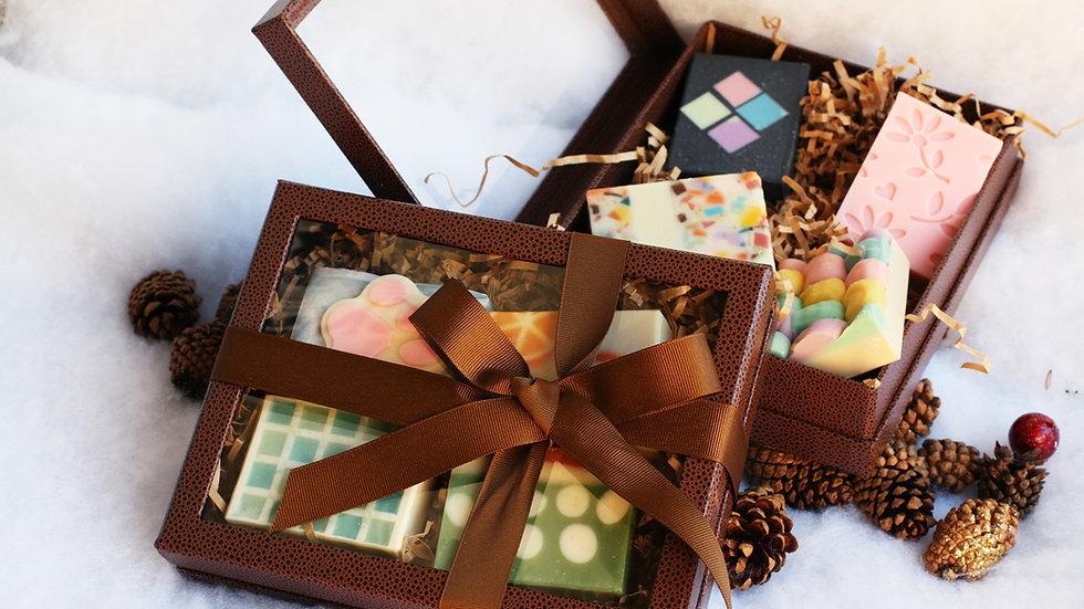 Rigid Brown Gift Box – 4 soaps