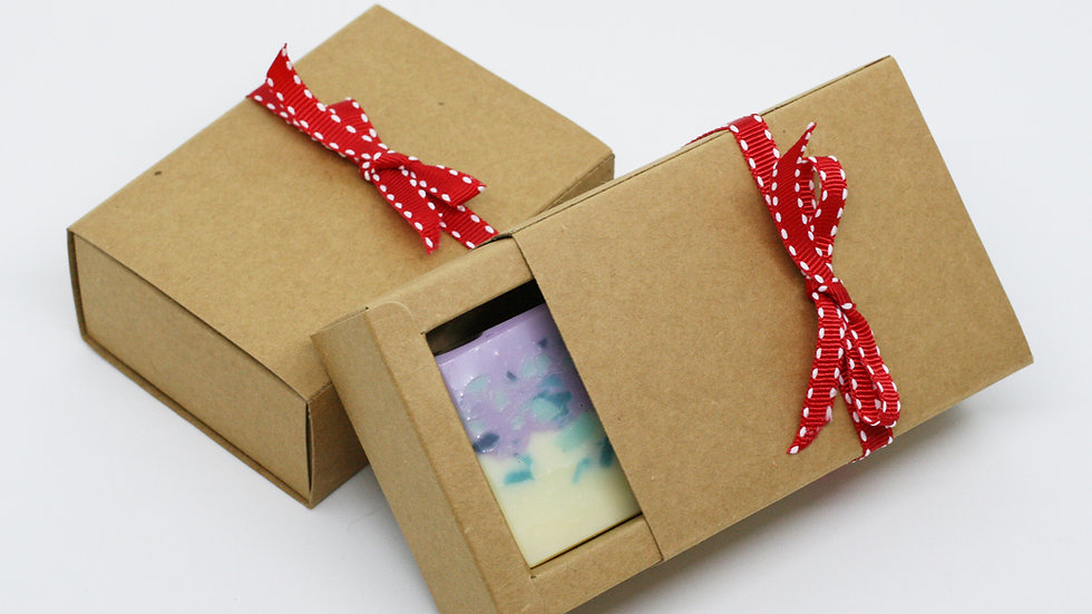 Kraft Paper Drawer Gift Box – 1 Soap