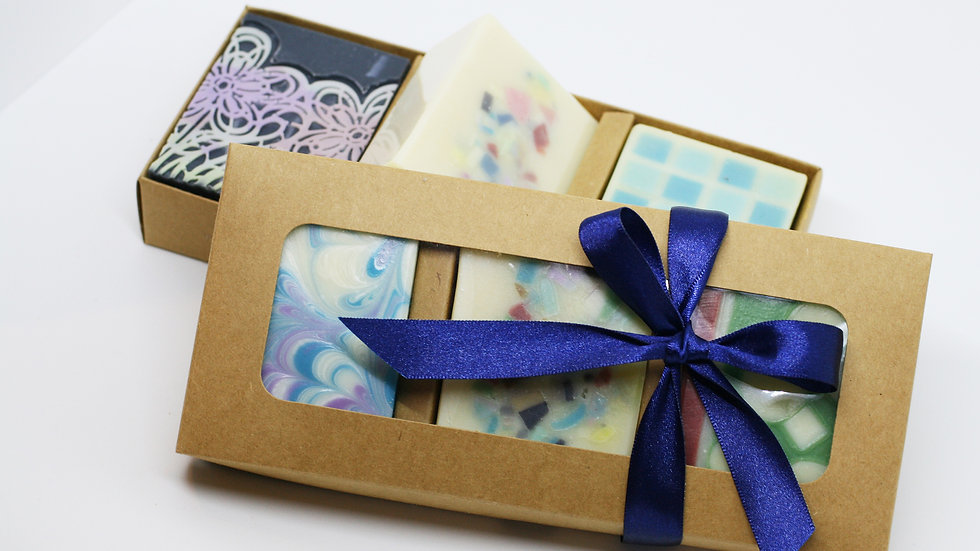 Handmade Soap Box – 3 Soaps