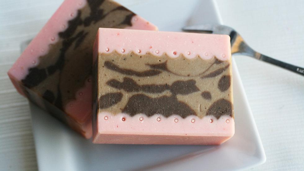 Raspberry Cake Handmade Soap